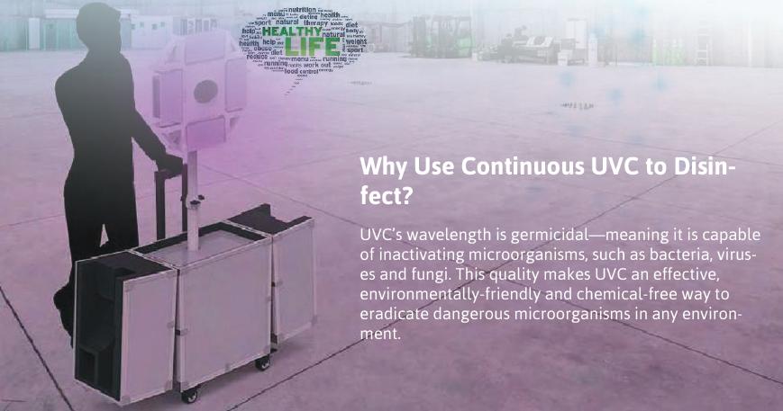 Omni Directional UV-C Disinfector